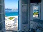 Upper floor beach studio #3 ~ private beachfront balcony, panoramic views!