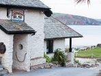 The Pilchard Inn - a smugglers' inn a short walk over the cliff and across the beach to Burgh Island