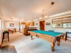 Game Room featuring a pool and foosball table