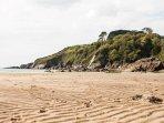 Nearby estuary beach at Wanwell