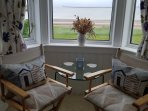 Seating area double room with stunning views