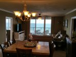 Oceanfront Living Room and Dining Room