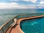 Poipu Shores Pool, right on the Ocean.