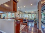 Hardwood floors, granite counter tops, fully stocked kitchen, dishes, pots, pans