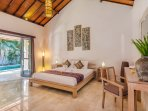 Cozy king size bedroom  with fully air-conditioning at Villa Can Barca.