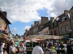 Saturday morning street market in Dol de Bretagne.