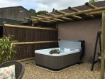 Hot tub on the terrace area