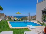 Swimming pool area and sea view