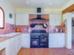 Upstairs kitchen with Range Cooker