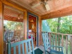 Kick back on your private porch