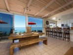 dining room with ocean views
