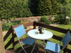 Coffee on the deck? Lovley and sunny until lunchtime in the summer months.