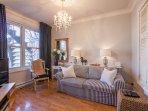 1st floor living room- showing sofa bed.