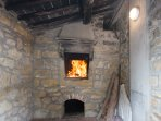 Original wood oven - perfect for pizza cooking!