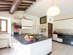 Large, functional kitchen with two fridge/freezers is perfect for catering for large groups