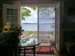 LL Bean premium outdoor furniture, cushions. Ocean breezes, prevailing South.