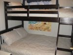 Bunks Beds, Full on bottom and twin on top, with TV