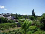 Vista general de Sorbeda desde el corredor de la casa