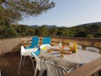 Morning Breakfast looking our over the Esterel Mountains
