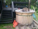 Private wood fired hot tub (optional)