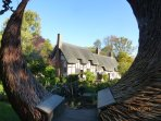 Anne Hathaway's Cottage is just 300 yards from Midsomer Cottage