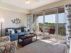Living Area w/Private Balcony