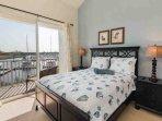 Queen Bedroom w/Flat Screen TV, Private Balcony & Water View
