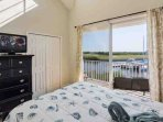 Queen Bedroom w/Flat Screen TV, Private Balcony & Water View - View #2