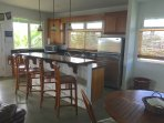 Hale Makai fine kitchen with all the amenities for those outside bbq's or your home cooked meals.