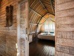 Wooden interior bedroom