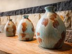 Decor detail: Handmade terracotta pottery