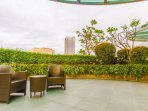 Roof deck garden accessible via Proximity card issued to guests