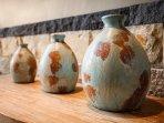 Handmade terracotta pottery