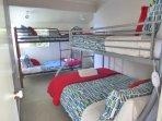 Bedroom 2 (sleeps 5) - single over double bunk bed & single bunks beds