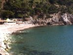 spiaggia dello stabilimento a cui accede il sentiero