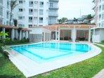 outdoor pool with gazebo