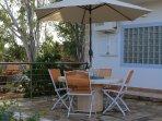 Side terrace, a shady spot