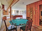Game Room Featuring Billiards, Foosball, Darts, & Card Table