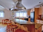 Professional Grade Kitchen Featuring Wolf Gas Range & Hood, 2 Ovens, 2 Dishwashers
