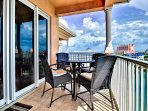 Views of the harbor, Clearwater Beach community, and the Gulf of Mexico