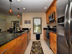 Remodeled kitchen with all the conveniences