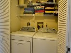 Laundry closet in unit