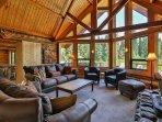 Living Room overlooking the Wenatchee River