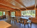 Large dining area open to kitchen with views to the Wenatchee River