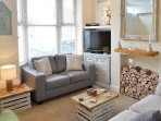 Whitstable's Pearl Beach Themed Living Area with Sky 42' TV & Unlimited Broadband