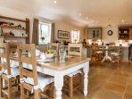 The very large kitchen dining room is great for those who enjoy cooking and entertaining