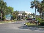 Resort entrance. Gated resort.