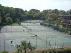 FREE tennis. 10 lit courts.