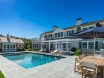 Pool, Pool House, Patio, Outdoor Dining Area