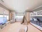 2nd Level Children's Room with 4 Singles, bath just around the corner